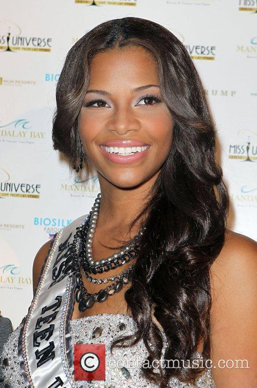 Kamie Crawford Miss Teen arrives at the 2010...