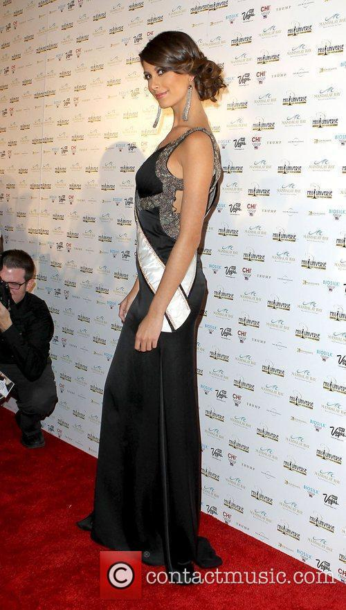 Stefania Fernandez arrive at the 2010 Miss Universe...