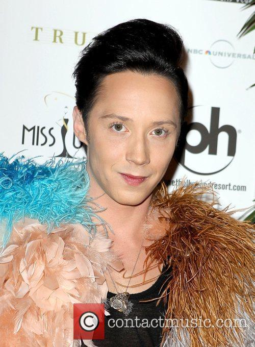 Johnny Weir arrives at the Miss USA 2010...