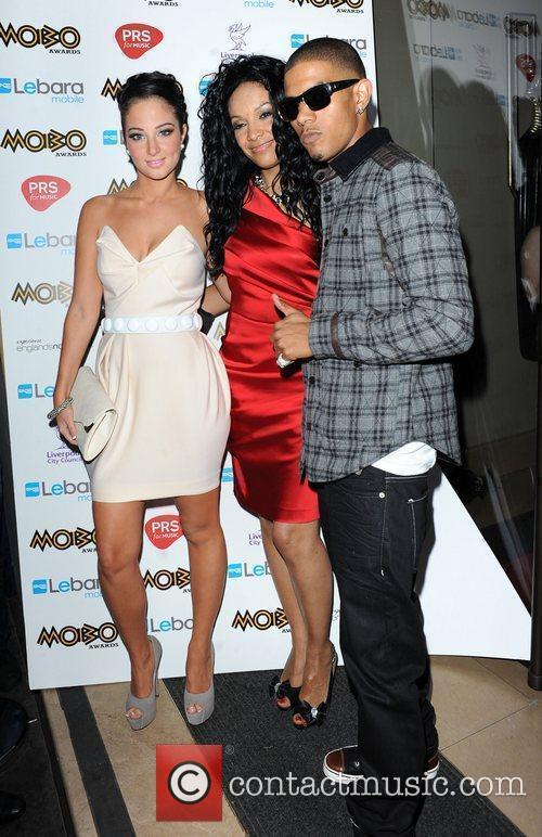 Kanya King, Tulisa and Fazer of N-Dubz Mobo...