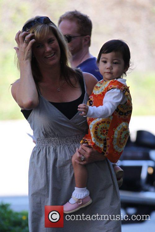 Ella Hiller filming ABC's 'Modern Family' on location...