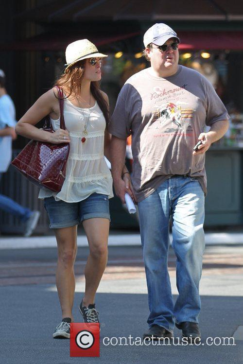 Eric Stonestreet and his girlfriend filming ABC's 'Modern...
