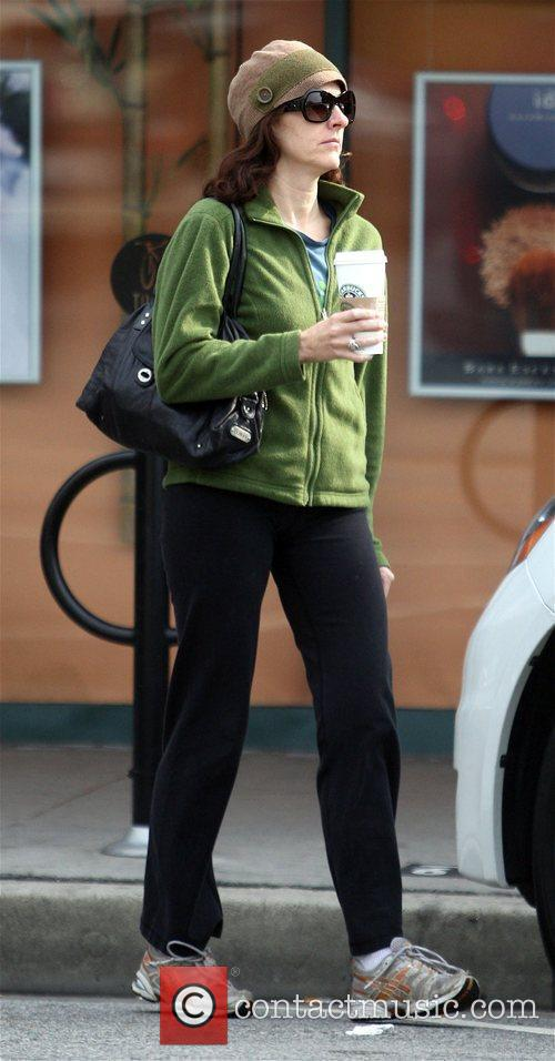 Molly Shannon seen getting coffee in West Hollywood....
