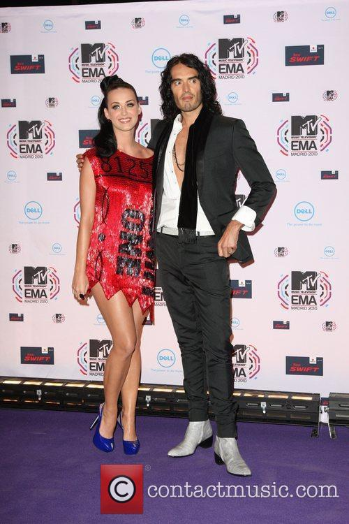 Katy Perry and Russell Brand MTV Europe Music...