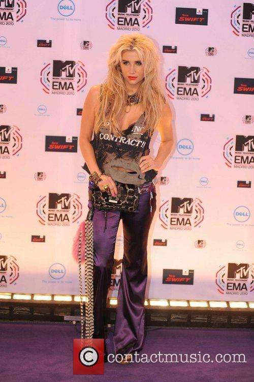 Kesha aka Ke$ha MTV Europe Music Awards 2010...
