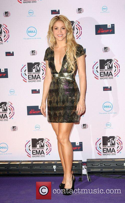 Shakira MTV Europe Music Awards 2010 at the...