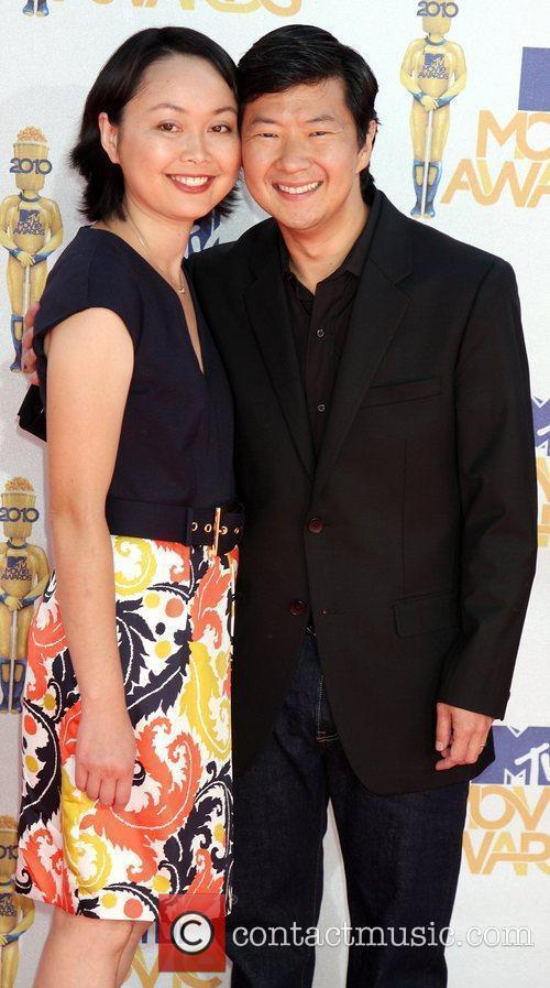Ken Jeong and guest 2010 MTV Movie Awards...