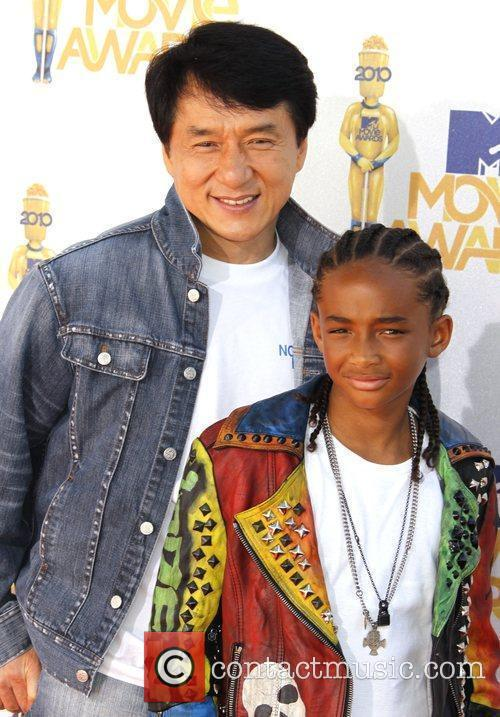 Jaden Smith and Jackie Chan 2010 MTV Movie...