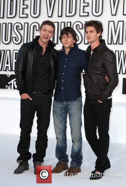 Justin Timberlake, Andrew Garfield, Jesse Eisenberg and Mtv 2