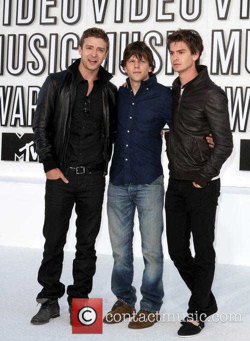 Justin Timberlake, Andrew Garfield, Jesse Eisenberg and Mtv 4