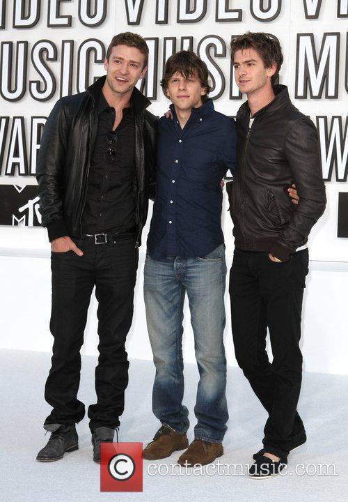 Justin Timberlake, Andrew Garfield, Jesse Eisenberg and Mtv 1