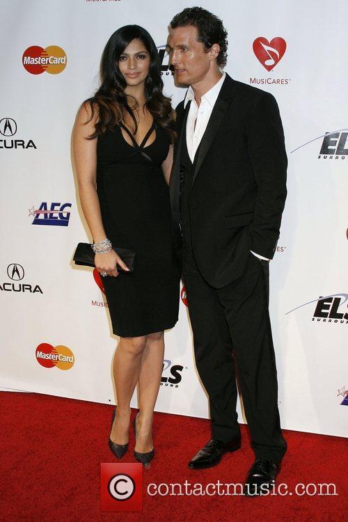Camila Alves and Matthew McConaughey 2010 MusiCares Person...