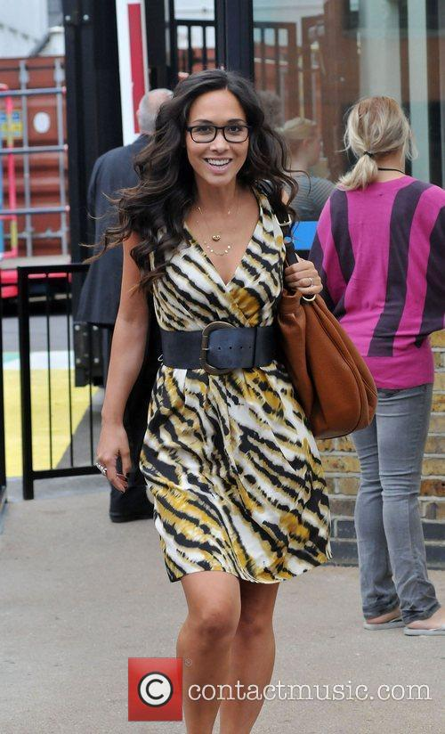 Myleene Klass was spotted outside the GMTV studios...