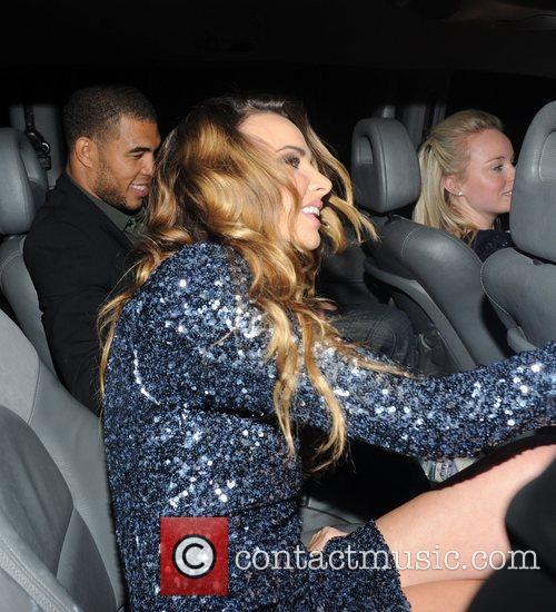 Nadine Coyle and boyfriend Jason Bell seen leaving...