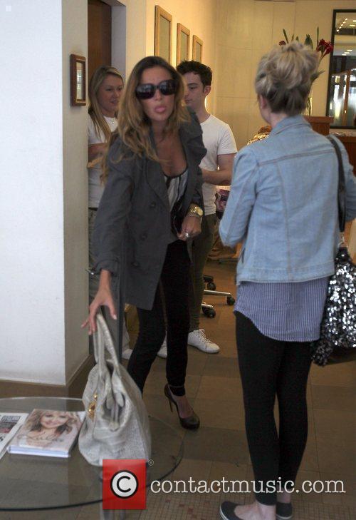 Nadine Coyle arrives at a hair salon London,...