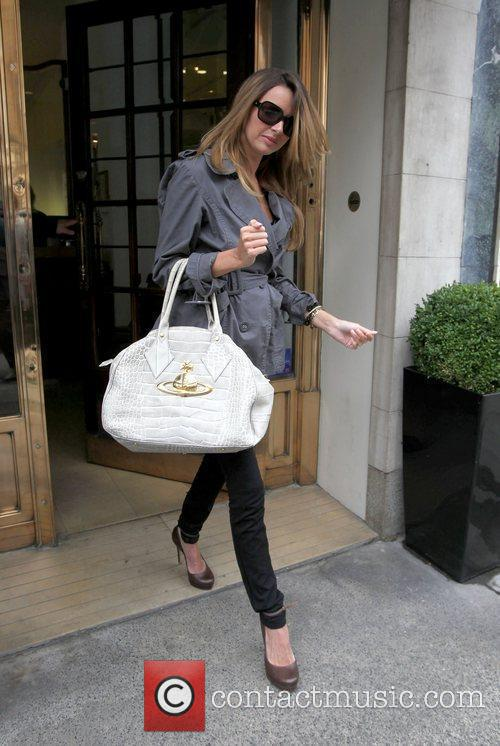 Nadine Coyle leaving at a hair salon London,...