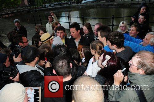 Nadine Coyle surrounded by fans  Nadine Coyle...