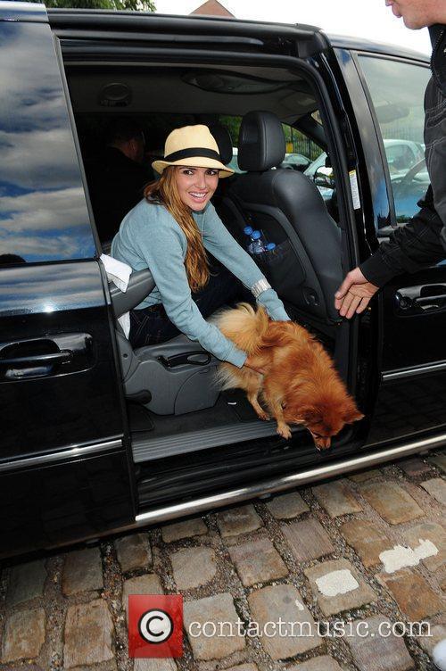 Nadine Coyle with her dog  Nadine Coyle...