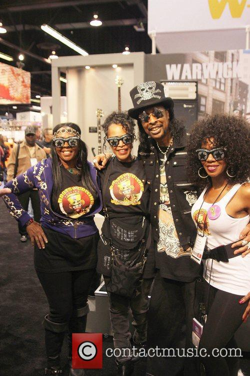Bootsy Collins, his wife and guests NAMM 2011...