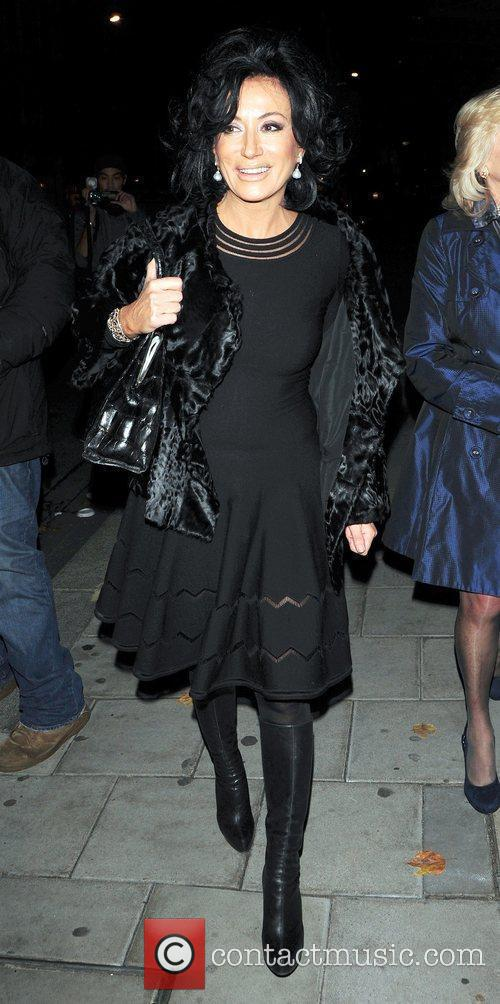 Nancy Dell'olio arrives to the C London restaurant...