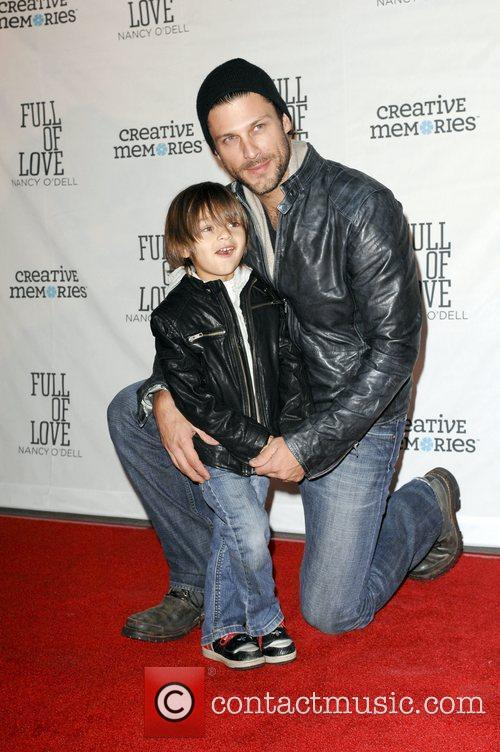 Greg Vaughan with his son  Nancy O'Dell...