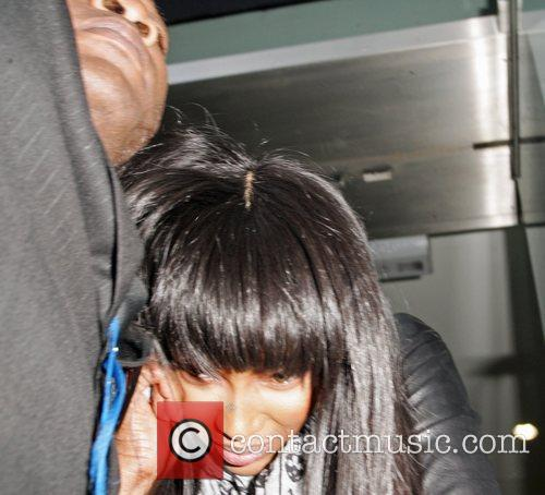Naomi Campbell leaving the Alexander McQueen HQ in...