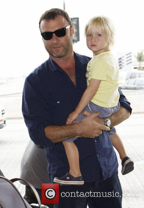 Liev Schreiber and his son Alexander 'Sasha' Pete...