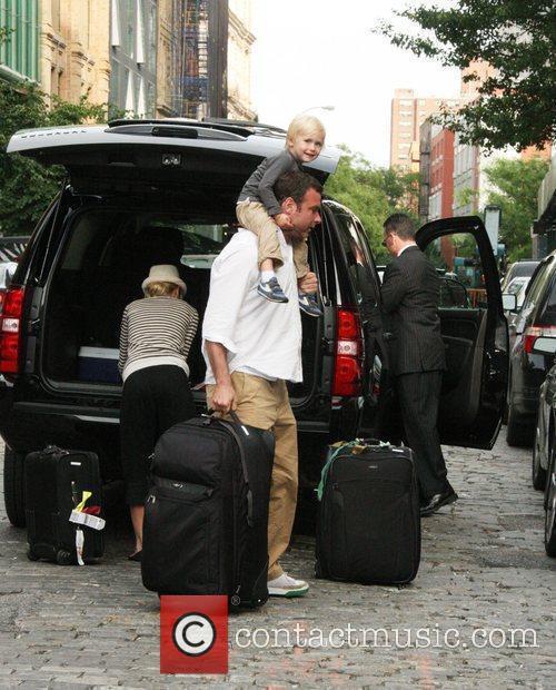 Naomi Watts and her husband Liev Schreiber and...