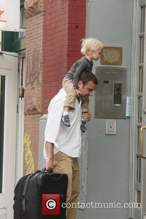 Naomi Watts' husband Liev Schreiber and son Samuel...