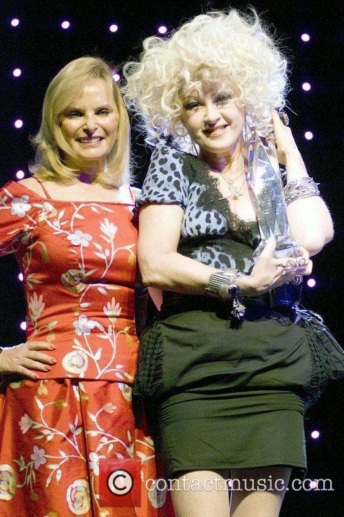 Rachelle Friedman and Cyndi Lauper, winner of Chairman's...