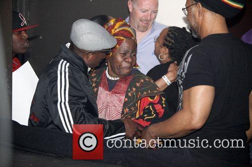 Rita Marley  Nas and Damian Marley performing...