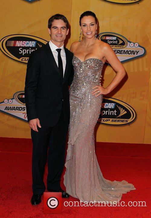 Jeff Gordon and Ingrid Vandebosch Nascar Sprint Cup...