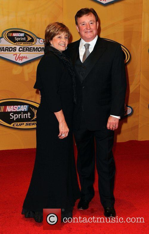 Judy Childress and Richard Childress Nascar Sprint Cup...