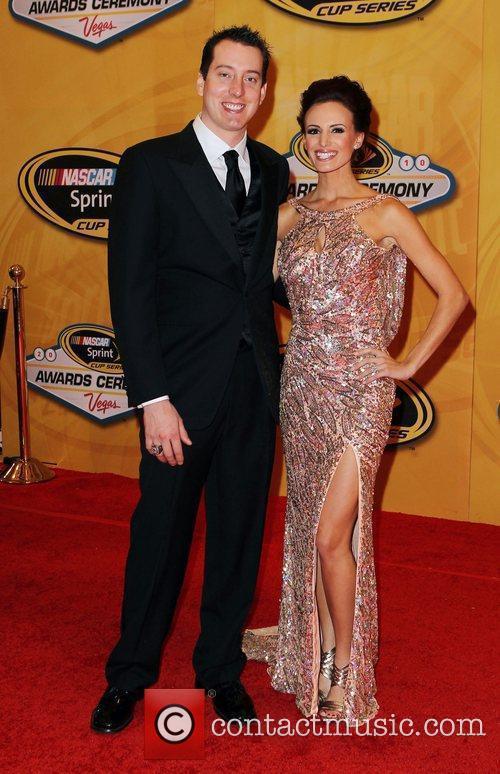 Kyle Busch and Samantha Sarcinella Nascar Sprint Cup...