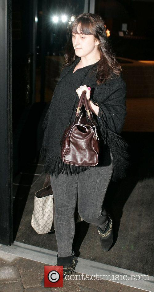 Natalie Cassidy leaving her Hotel Liverpool, England