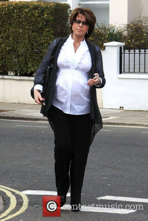 Natasha Kaplinski leaving her home London, England