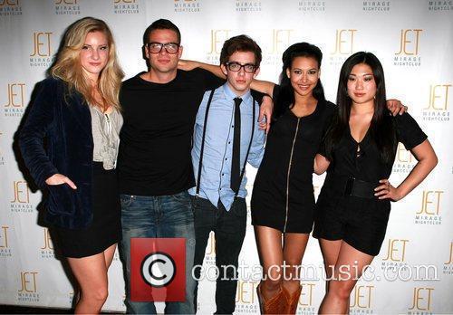 Naya Rivera celebrates her birthday with fellow 'Glee'...