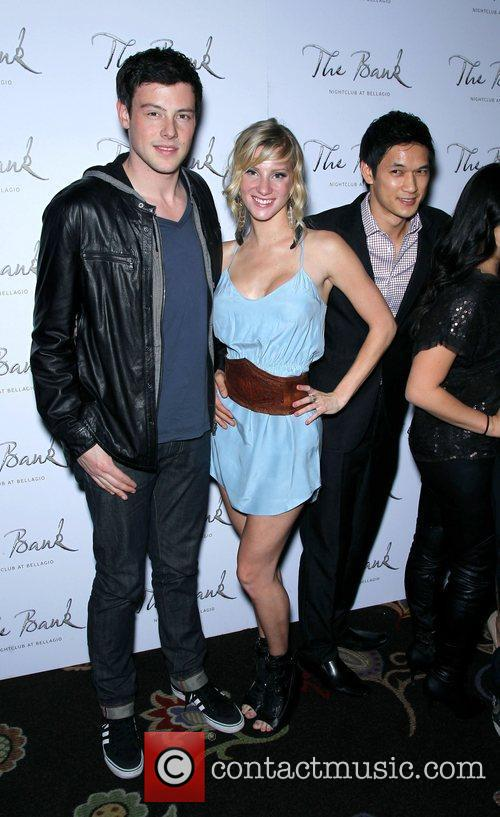 Cory Monteith, Glee, Heather Morris, Las Vegas, Naya Rivera, The Bank nightclub