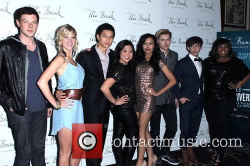 Cory Monteith, Amber Riley, Glee, Heather Morris, Kevin Mchale, Las Vegas and Naya Rivera 1