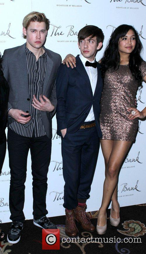 Kevin Mchale, Glee, Las Vegas and Naya Rivera 2