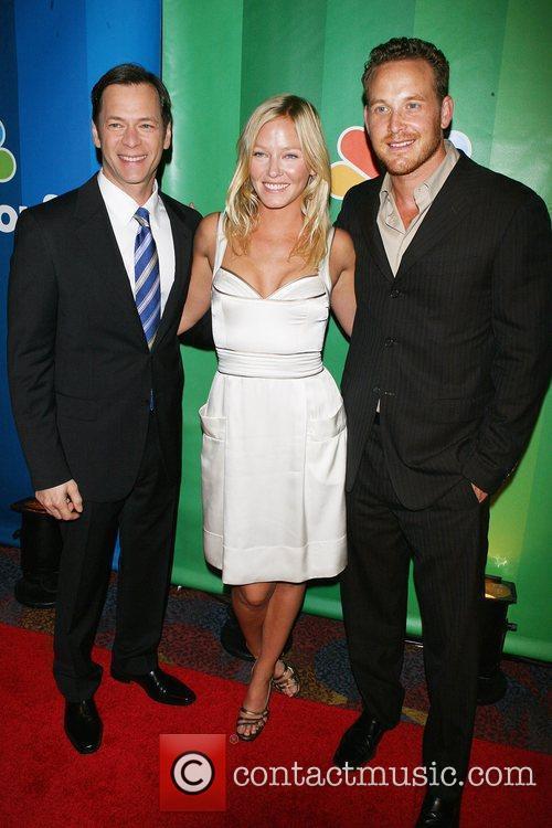 Jeff Gaspin, Kelli Giddish; Cole Hauser 2010 NBC...