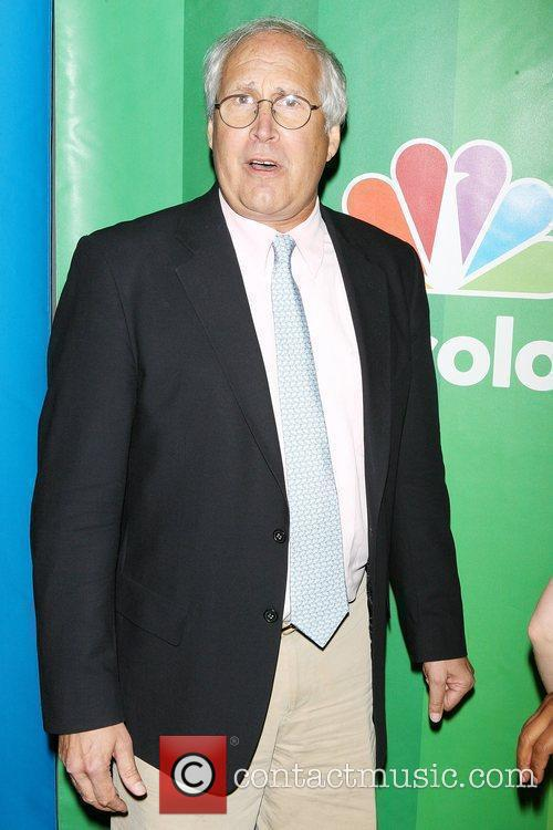 Chevy Chase 2010 NBC Upfront presentation at The...