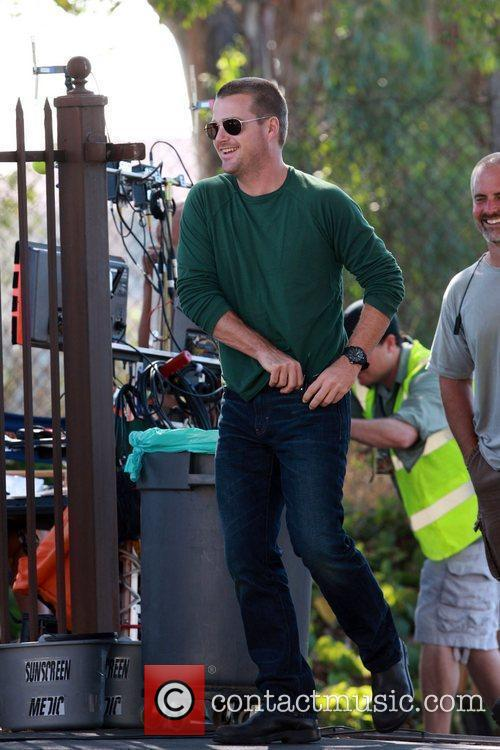 Chris O'Donnell  on the set of the...