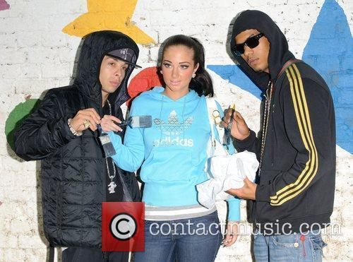 N-Dubz and Taio Cruz volunteering along with 100...