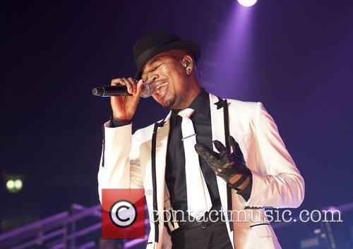 Ne-Yo performing at Manchester Evening News Arena on...