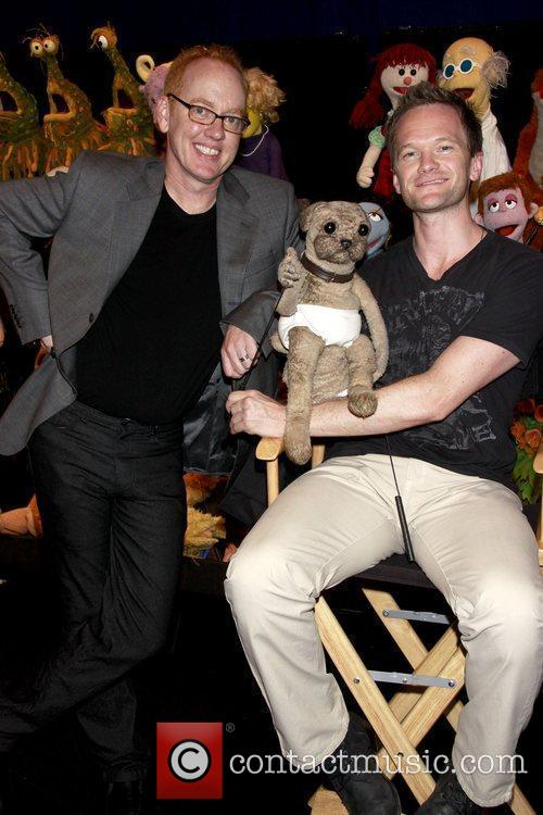 Neil Patrick Harris visits the cast of the...
