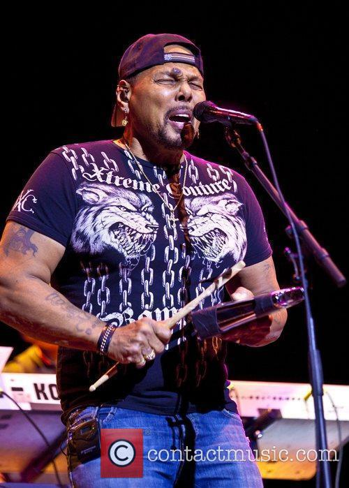 Aaron Neville The Neville Brothers perform live at...
