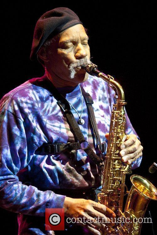 Charles Neville The Neville Brothers perform live at...