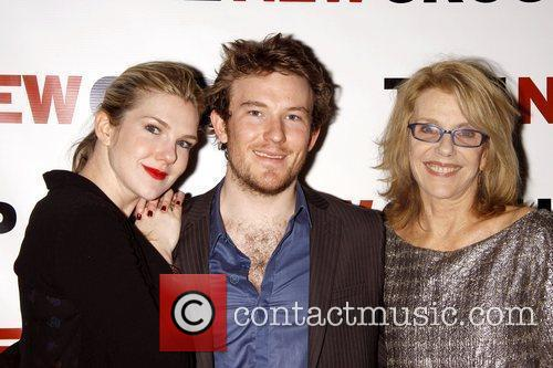 Lily Rabe, her brother Michael Rabe, and her...