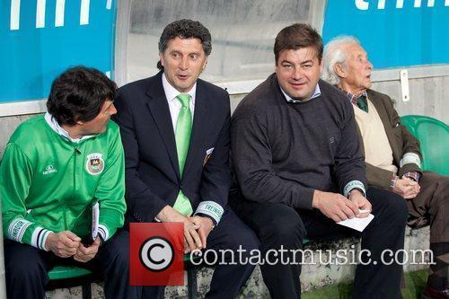 Lucio Pereira, Coach adjunt, Carlos Brito, coach of...